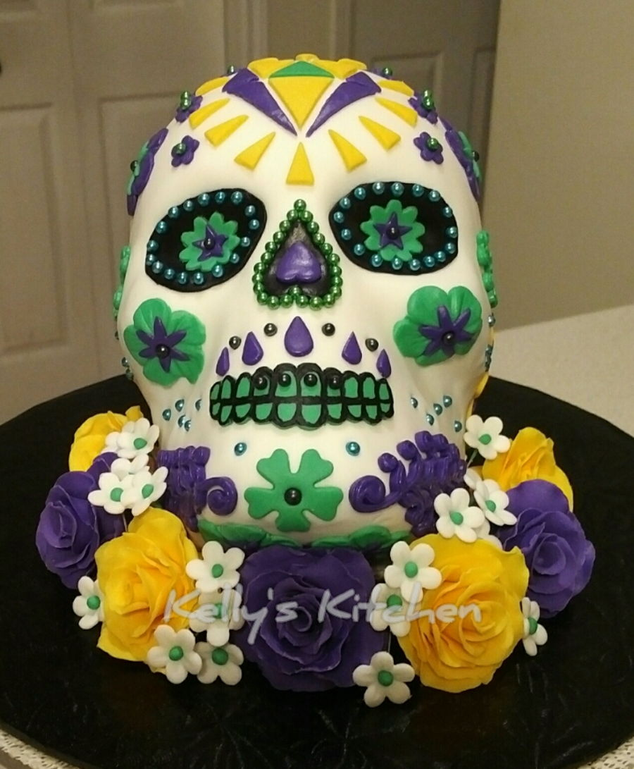 Skull Birthday Cake Decorations