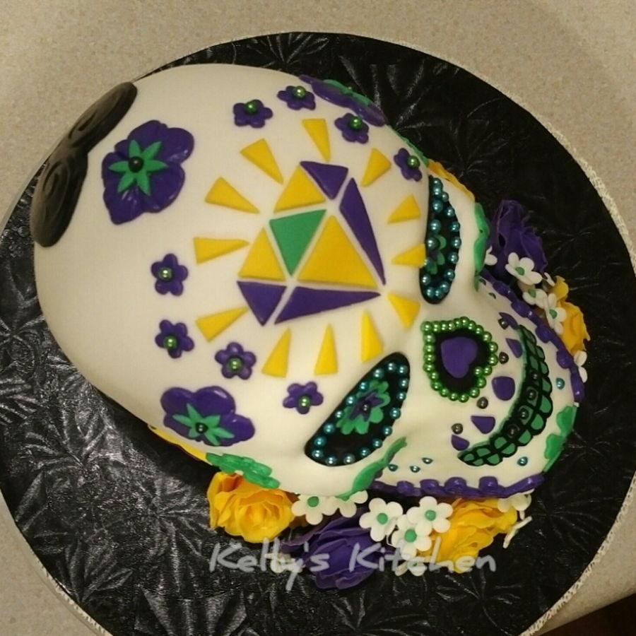 Sugar Skull Wedding Cake - CakeCentral.com
