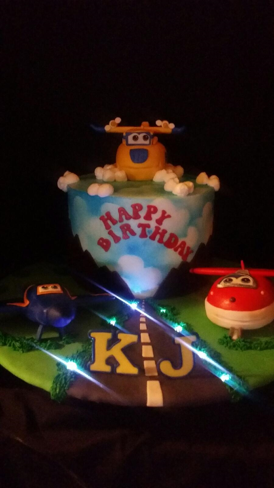 Super Wings Birthday Cake Cakecentral Com