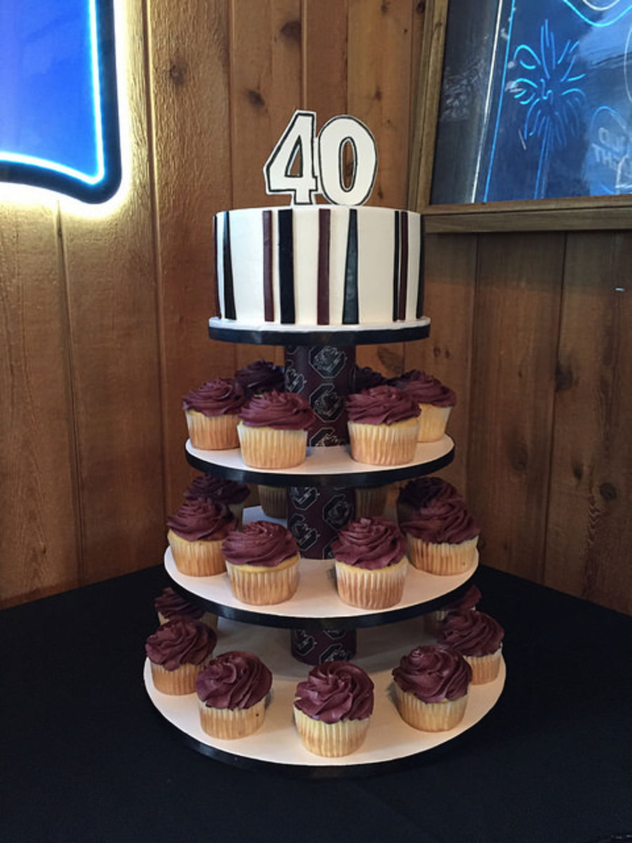 University Of South Carolina Themed 40th Birthday Cupcake