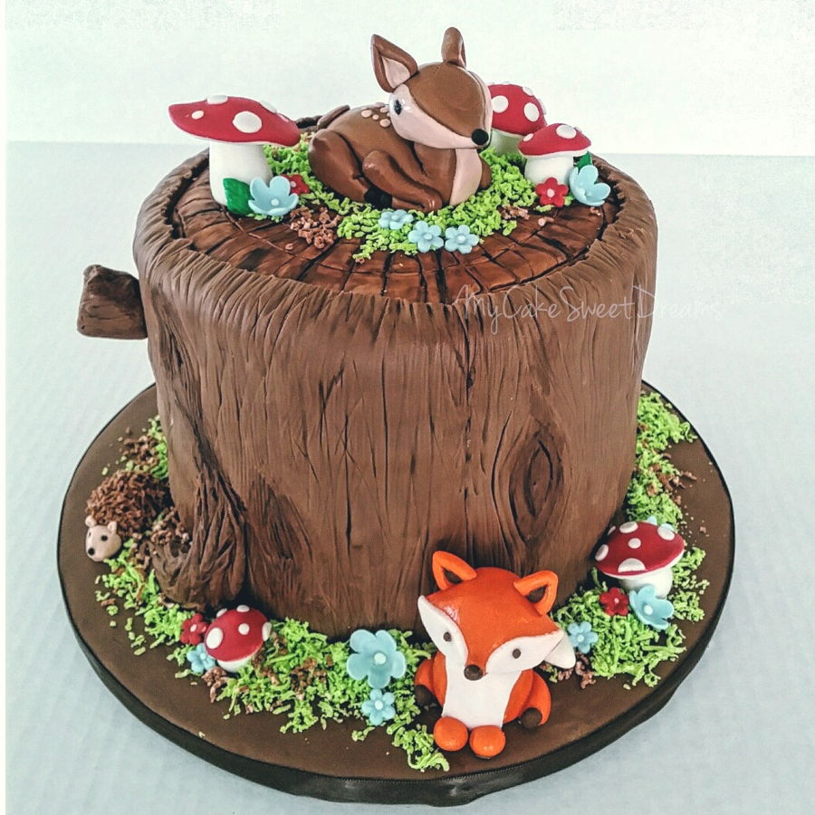 Baby Shower Girl Cake Ideas Woodland Creatures
