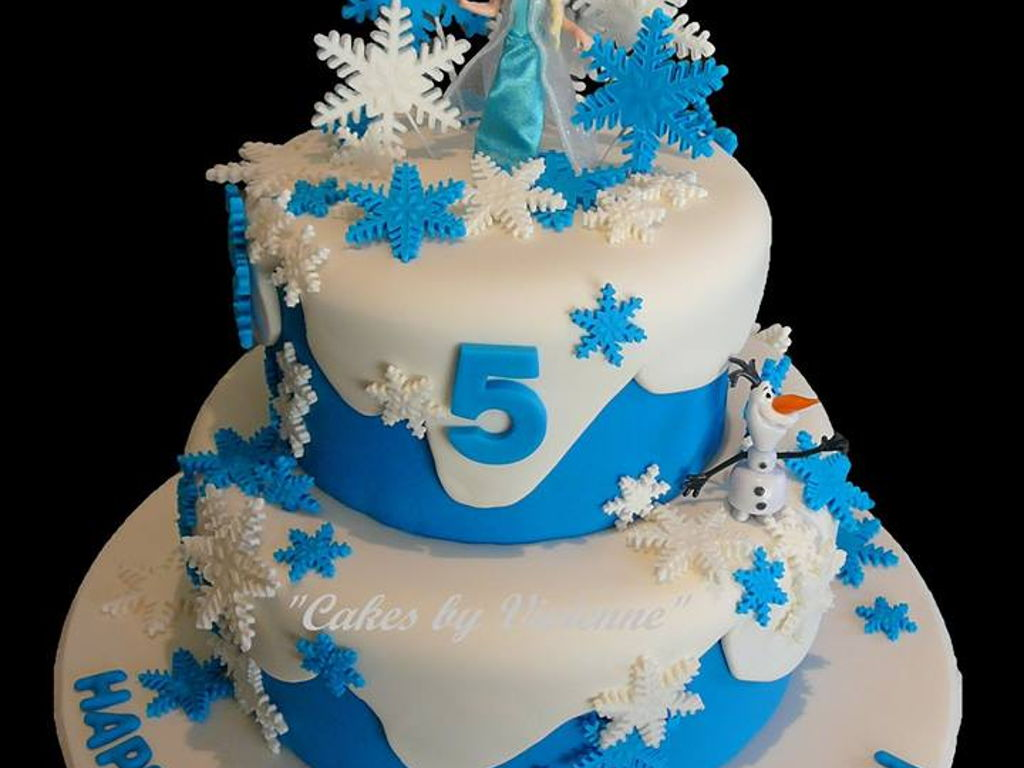 Frozen 5 Year Old Birthday Cake CakeCentralcom