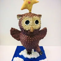 3D 'twinkle Star And Owl' Cake First 3D gravity defying 'twinkle star and owl' cake for Goddaughter's 1st birthday day! The owl is all chocolate cake...