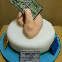 Amex Cake modelling paste used for credit cards and hand is sugar paste
