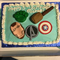 Avengers Cake Fondant used to make decorations