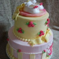 Baby Shower Cake side view