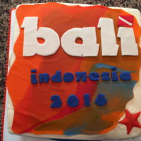 Bali Dive Trip Cake  Just returned from Bali doing some diving and climbing there. We had a party with everyone so I made the cake. I used the colors from their...