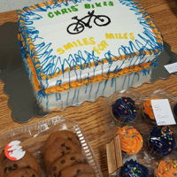 Bike Benefit Cake Co worker lost her son in a bike accident. Every year at Christmas she raises money to gift out Bikes to the Low income children.She had a...
