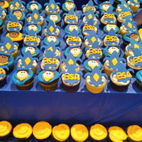 Boy Scouts Of America Cupcakes A cupcake display for the blue and gold celebration! The decorations are fondant and gumpaste 2/26/16