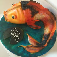 Carved Fish Cake Carved Koi Cake