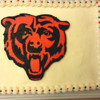 Chicago Bears Nfl Cake Chicago Bears NFL Cake - bears logo made with FBCT method