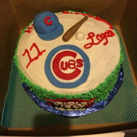 Chicago Cubs Cake Fondant used for making the decorations