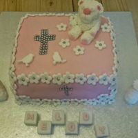 Christening Cake first attempt at a christening cake