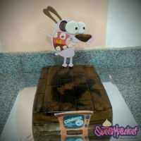 "Courage The Cowardly Dog Cake 9x13"" Courage the Cowardly Dog Show Cake"