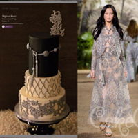 Elie Saab Inspired Cake For Cake Central Magazine  This was my submission to the Cake Central magazine's fashion issue (vol 7 issue 4). Needless to say I'm thrilled to bits to have...