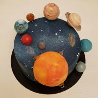 Galaxy Cake Galaxy cake is for my nephew Hrvoje,They say that Mars is our future home, and Hrvoje is a boy in love with physics and electricity, who...
