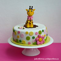 Giraffe The cake for a little girl.