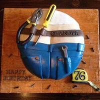 Handyman Cake made from vanilla cake and fondant. all edible