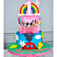 Mickey/minnie Mouse Cake This was a fun cake to make and inspired by The Royal bakery