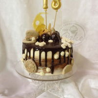 My Baby Is 18!!!   Delicious vanilla and chocolate cake, with chocolate drip
