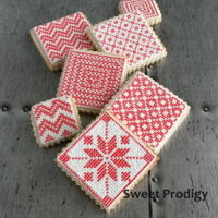 Nordic Needlepoint | Sweet Prodigy These are sugar cookies decorated with royal icing.