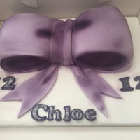 Now Cake Carved Bow