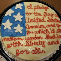 Patriotic Pledge Of Allegiance American Flag Cake   caramel buttercream frosting, received a special award at the county fair for this cake, was inspired by another cake on here