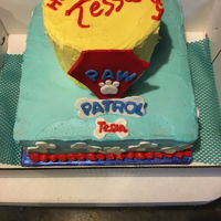 Paw Patrol Cake Fondant used for decorations - Figurines were added to cake later