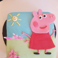 Peppa Pig quick cake for my daughter, she loved it