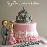 Princess Dream!! Handmade figures, tiara cake!!!