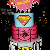 Super Heros Cake Super Heros cake, superman, spiderman, batman
