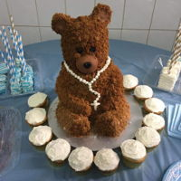 Teddy Bear Cake My 1st time making a bear cake