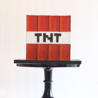 Tnt Minecraft Cake I made this cake for my son's birthday. Two sides have TNT and the other two have MATT. This was done with modelling chocolate and...