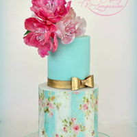 Wafer Paper Cake Cake with wafer paper flowers