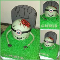 Zombie Minion My son asked for a zombie cake for his 8th birthday. Although I hate zombies, I couldn't turn him down!