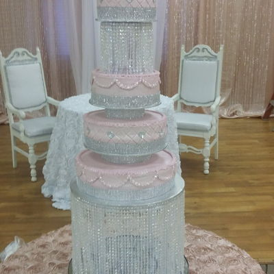 5 Tier Pink & Bling