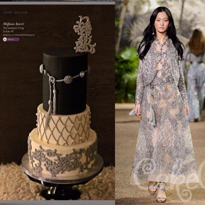 Elie Saab Inspired Cake For Cake Central Magazine