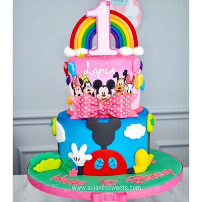 Amazing Mickey Mouse Cake Decorating Photos Personalised Birthday Cards Veneteletsinfo