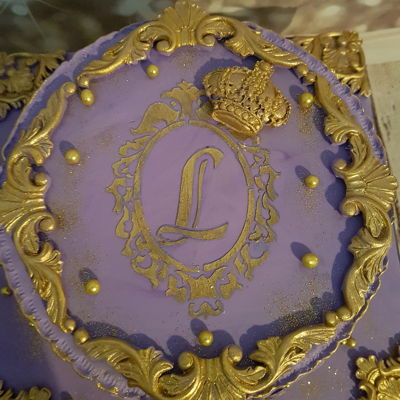 Purple And Gold Cake Baroque Royal Cake