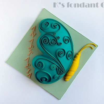 Quilled Butterfly Cake
