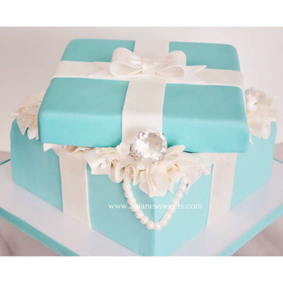 Tiffany Blue Present Cake Box