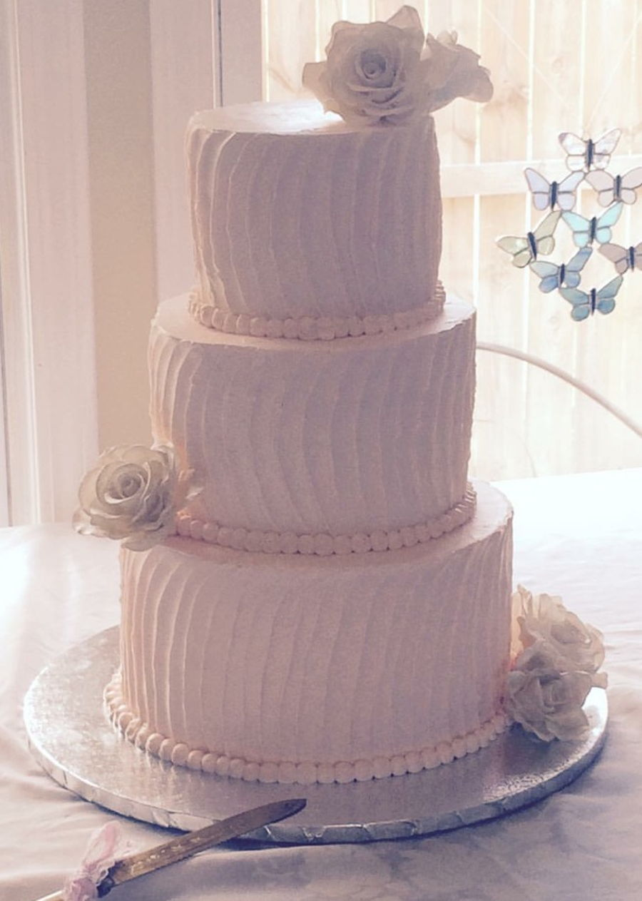 3 tiered wedding cake recipe 3 tier 3 flavor wedding cake cakecentral 10228