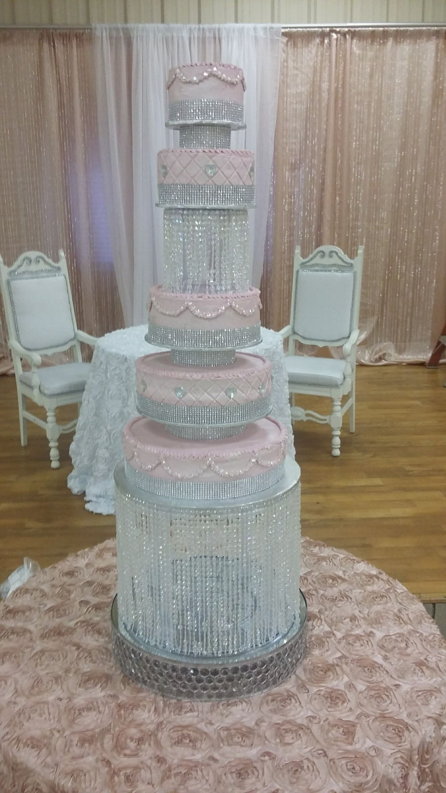 5 Tier Pink & Bling on Cake Central