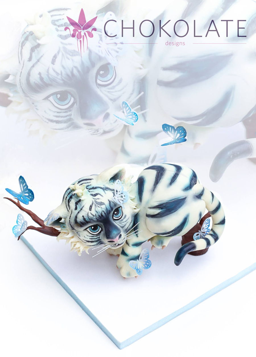 Cake Decorating Job Interview Questions : Baby White Tiger - CakeCentral.com