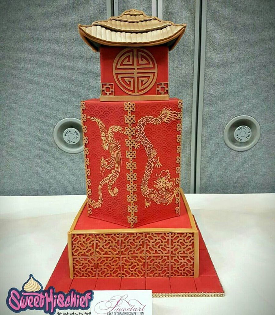Chinese Pagoda Wedding Cake on Cake Central
