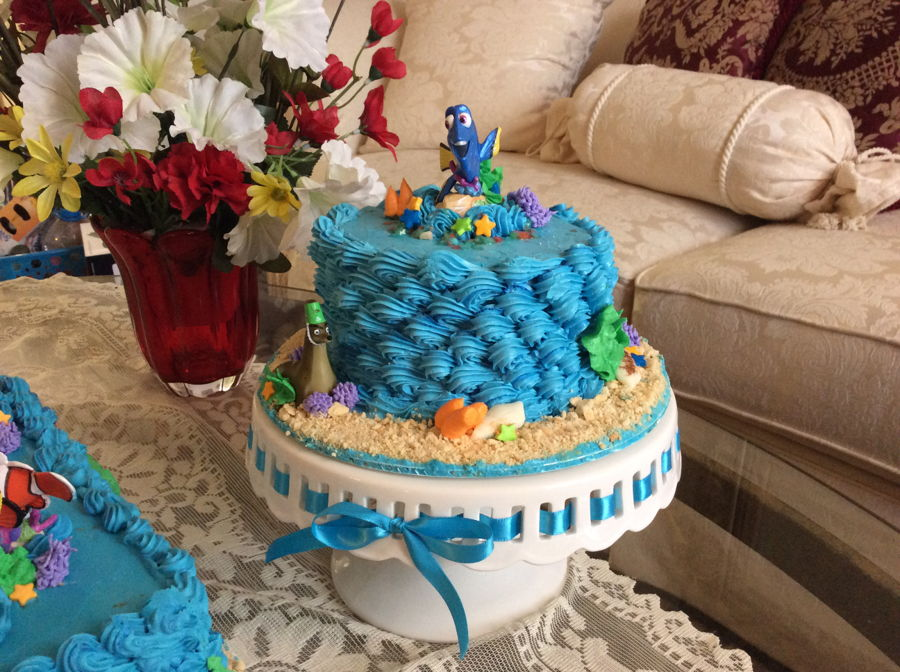 Finding Dory Birthday And Smash Cake CakeCentralcom