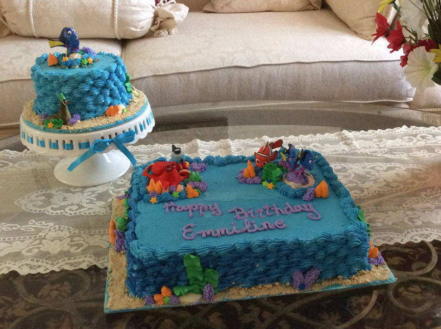 Finding Dory Birthday And Smash Cake Cakecentral Com