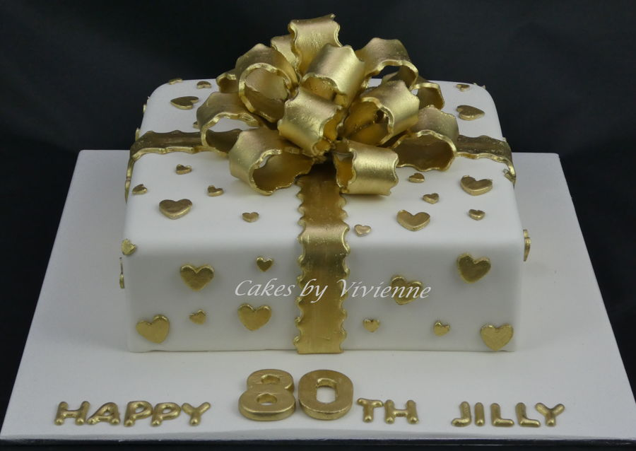 Gold Bow Birthday Cake Cakecentral Com