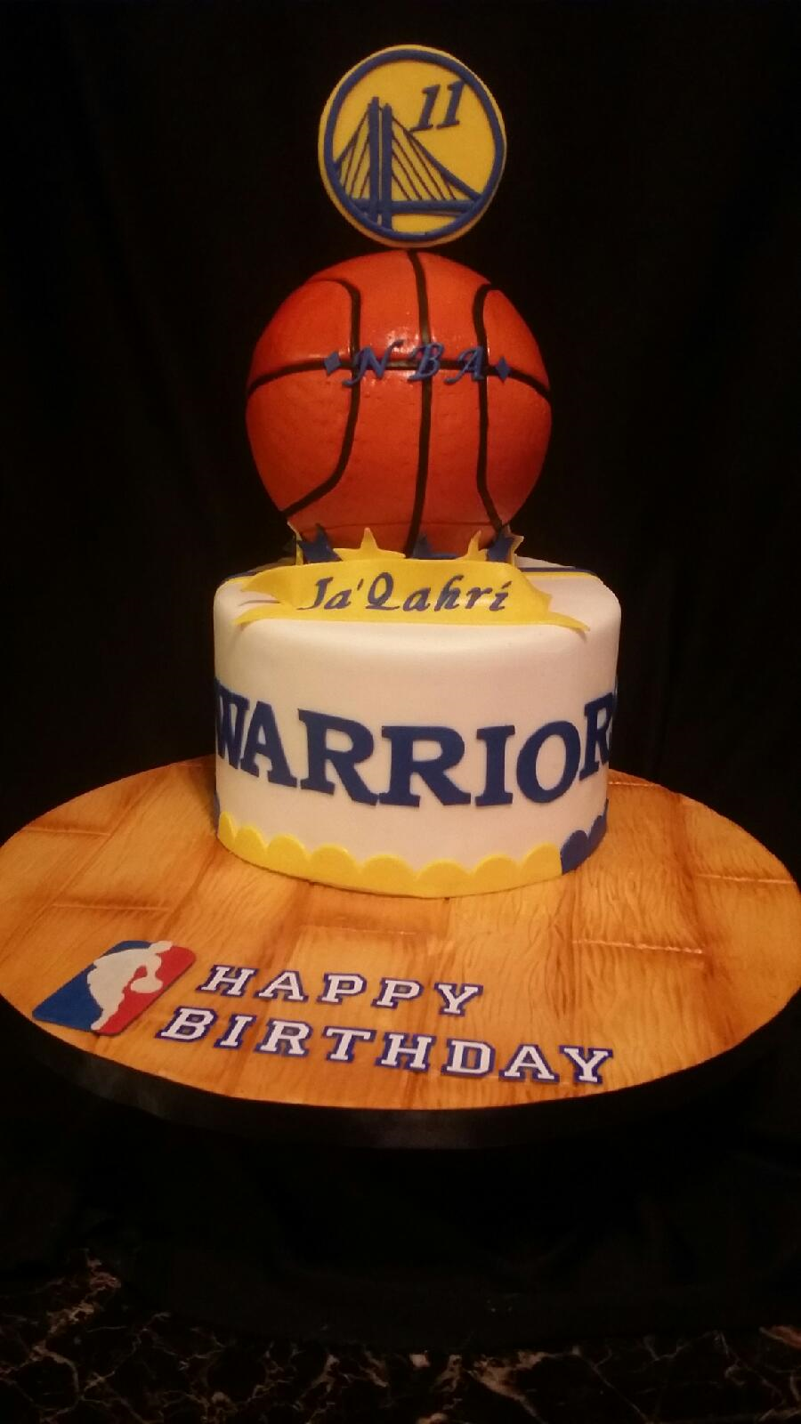 Golden State Warriors Cake For An 11 Year Old Boy Was Strawberry With Vanilla Buttercream