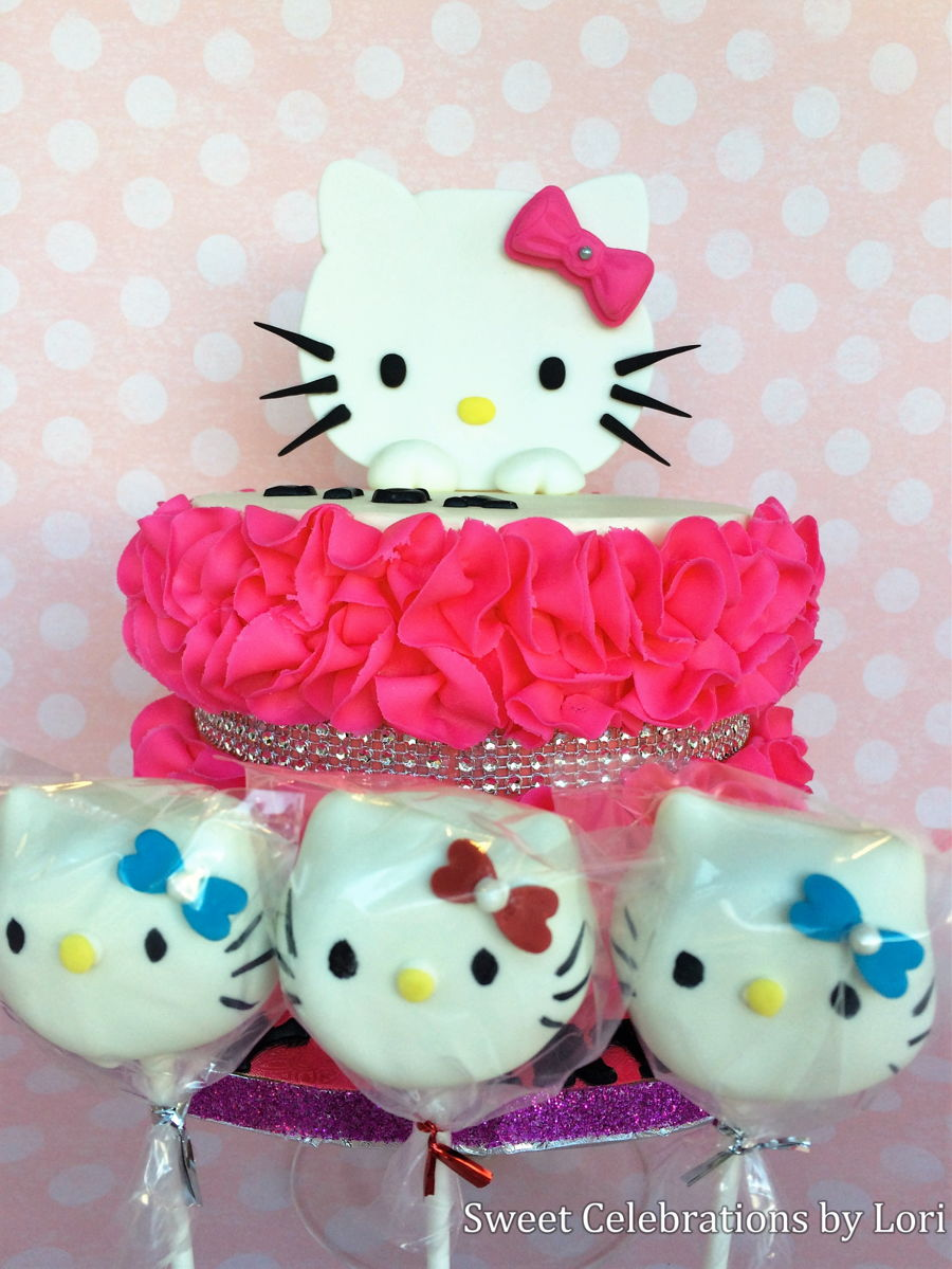 Hello Kitty Birthday Cakecake Pops CakeCentralcom